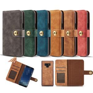 Galaxy Note9 ケース 手帳型 レザー カバー カード収納付き 分離式 ギャラクシー ノート9   スマートフォン/スマフォ/スマホケース/カバー keitaicase