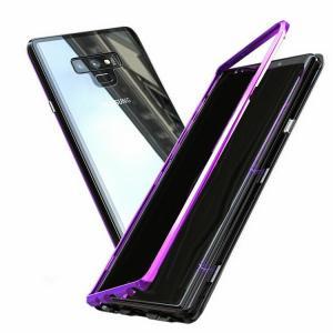 Samsung Galaxy Note9 ケース/カバー アルミ バンパー クリア 透明 強化ガラス 背面パネル付き  かっこいい  note9-bob02-w80828|keitaicase