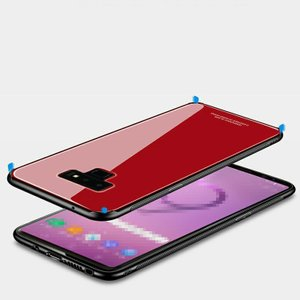 Samsung Galaxy Note9 ケース/カバー TPU バンパー 背面強化ガラス 背面パネル付き かっこいい ストラップ  note9-nc20-s80716|keitaicase