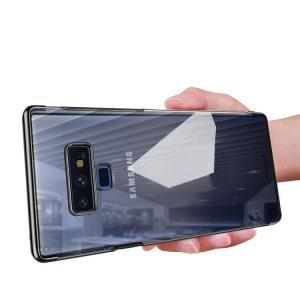 Samsung Galaxy Note9 クリアケース/カバー シンプル メッキ かっこいい サムソン サムスン ギャラクシー ノ  note9-xd04d-w80806|keitaicase