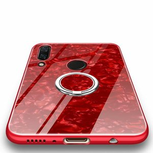 HUAWEI nova 3 シリコンケース カバー 背面強化ガラス 背面カバー 片手持ちに便利なリング付き スタンド付き フスマートフォン/スマフォ/スマホケース/カバー keitaicase
