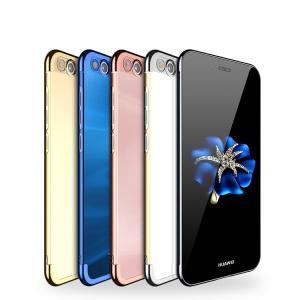 Huawei P10 lite ケース TPU クリア メッキ メタル調 ファーウェイ P10 lite 透明 ソフトケースおすす  p10lite-y66-t70608|keitaicase