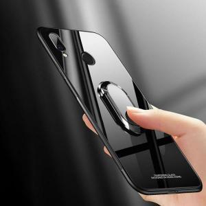 Huawei P20 lite シリコンケース カバー 背面強化ガラス 背面カバー スマホリング付き ファーウェイ P20 ライト  p20lite-gal02-w80526|keitaicase