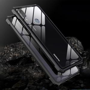 Huawei P20 lite  ケース カバー アルミ バンパー クリア 透明 強化ガラス 背面パネル付き アルミ かっこいい   p20lite-mg04-w80511|keitaicase