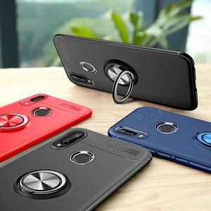 Huawei P20 Lite ケース TPU カバー シンプル スリム ファーウェイP20 ライト リング付き マグネットスタン HWV32|keitaicase