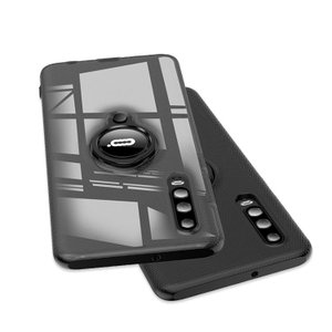 ファーウェイP30/P30プロ用の片手持ちに便利なリング付きで柔軟性のあるTPU素材のソフトカバー ...