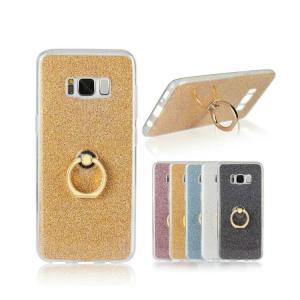 Samsung Galaxy S8 ケース TPU リングブラケット付き ラメ デコレーション エレガントでおしゃれ ギャラクシー  SC-02J docomo SCV36 au|keitaicase