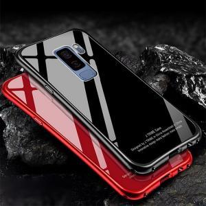 Samsung Galaxy S9+ ケース アルミ バンパー クリア 透明 強化ガラス 背面パネル付き アルミ かっこいい ギャ /SC-03K / SCV39|keitaicase