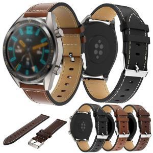 Huawei Watch GT/Watch GT 2 46mm用 交換 レザー 柔軟性のあるPU製の...
