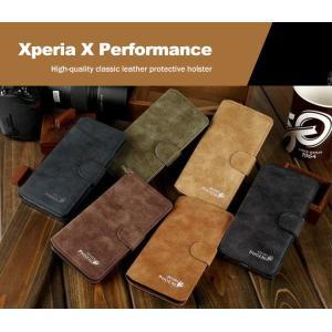 Xperia X Performance ケース 手帳 レザー スエード ・ バックスキン ・ ヌバック調がおしゃれ カード収納/  スマートフォン/スマフォ/スマホケース/カバー|keitaicase