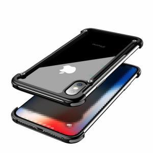 iPhone XS Max アルミフレーム 4コーナーガード クロスフレーム かっこいい アイフォンXS マックス メタルケース スマートフォン/スマフォ/スマホケース/カバー|keitaicase