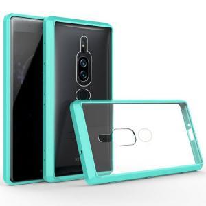 Sony Xperia XZ2 Premium クリアケース カバー 耐衝撃 透明 タフで頑丈 TPU素材 ソニー エクスペリア   xz2p-tpc02-w80529 keitaicase