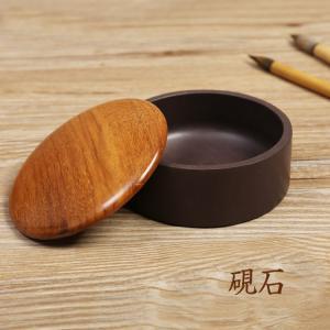 硯 円形 端硯 4吋 硯石 端硯 実用硯 書道用品  yantai-m35-t70126 keitaicase