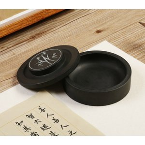 硯 円形 羅紋硯 4吋 硯石 羅紋硯 実用硯 練習 書道用品  yantai-n36-t70126 keitaicase
