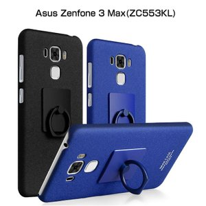 ZenFone 3 Max ケース リングブラケット付き ZC553KL シンプル  ゼンフォン3マックス ハードケース おすすめ  zc553kl-08-l70214|keitaicase