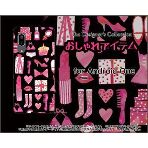 Android One S7 アンドロイド ワン エスセブン スマホ ケース/カバー おしゃれアイテム(黒×ピンク) 服 靴 おしゃれ ワードロープ 黒|keitaidonya