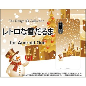 Android One S7 アンドロイド ワン エスセブン スマホ ケース/カバー レトロな雪だるま 冬 スノー 雪だるま 結晶 白銀|keitaidonya
