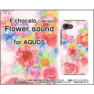 AQUOS R compact SHV41 701SH アクオス TPU ソフト ケース/カバー Flower sound F:chocalo デザイン 花柄 ピンク イラスト バラ 音符|keitaidonya