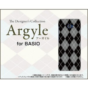 BASIO4 KYV47 ベイシオフォー TPU ソフトケース/ソフトカバー 液晶保護フィルム付 Argyle(アーガイル) type002 あーがいる 格子 菱形 チェック|keitaidonya