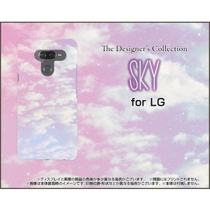 LG K50 エルジー ケイフィフティー SoftBank スマホ ケース/カバー 液晶保護フィルム付 SKY(ピンク×ブルー) 空 雲 そら くも 朝|keitaidonya