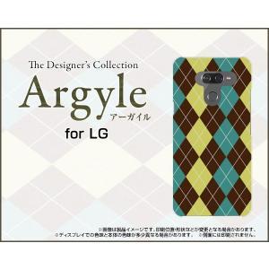 LG K50 エルジー ケイフィフティー SoftBank TPU ソフトケース/ソフトカバー 液晶保護フィルム付 Argyle(アーガイル) type001 あーがいる 格子 菱形 チェック|keitaidonya