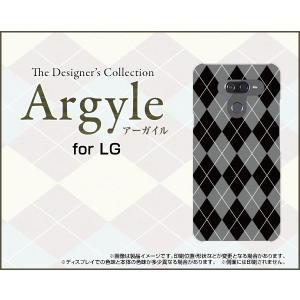 LG K50 エルジー ケイフィフティー SoftBank TPU ソフトケース/ソフトカバー 液晶保護フィルム付 Argyle(アーガイル) type002 あーがいる 格子 菱形 チェック|keitaidonya