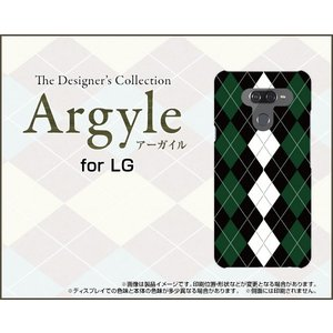 LG K50 エルジー ケイフィフティー SoftBank TPU ソフトケース/ソフトカバー 液晶保護フィルム付 Argyle(アーガイル) type004 あーがいる 格子 菱形 チェック|keitaidonya