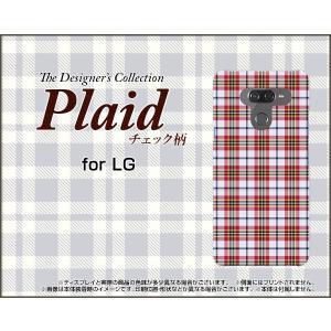 LG K50 エルジー ケイフィフティー SoftBank スマホ ケース/カバー Plaid(チェック柄) type002 ちぇっく 格子 赤 白 可愛い(かわいい)|keitaidonya