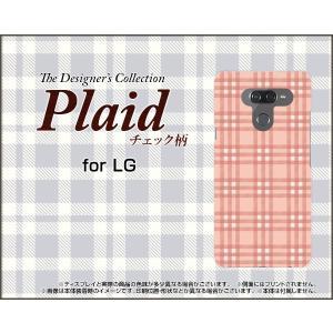 LG K50 エルジー ケイフィフティー SoftBank スマホ ケース/カバー Plaid(チェック柄) type004 ちぇっく 格子 ピンク 可愛い(かわいい)|keitaidonya
