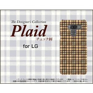 LG K50 エルジー ケイフィフティー SoftBank スマホ ケース/カバー Plaid(チェック柄) type005 ちぇっく 格子 ベージュ|keitaidonya
