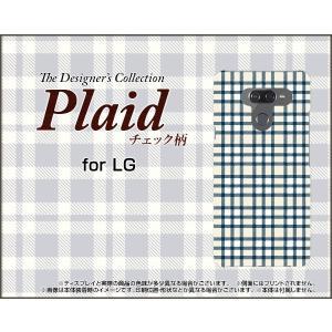 LG K50 エルジー ケイフィフティー SoftBank スマホ ケース/カバー Plaid(チェック柄) type006 ちぇっく 格子 青 白 シンプル|keitaidonya