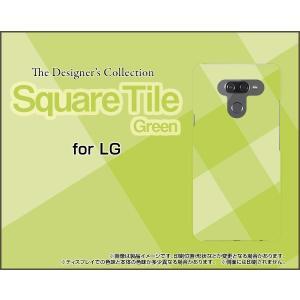 LG K50 エルジー ケイフィフティー SoftBank TPU ソフトケース/ソフトカバー SquareTile(Green) タイル 緑 グリーン チェック 四角|keitaidonya