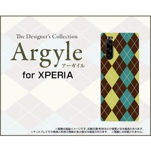 XPERIA 5 SO-01M SOV41 エクスペリア ファイブ スマホ ケース/カバー Argyle(アーガイル) type001 あーがいる 格子 菱形 チェック|keitaidonya