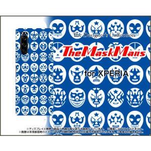 XPERIA 5 SO-01M SOV41 エクスペリア ファイブ スマホ ケース/カバー The Mask Mans(ブルー) マスク 覆面 プロレス|keitaidonya