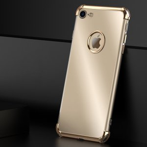 29a433df89 iPhone8 クリア ケース 耐衝撃 TPU 2重構造 タフで頑丈 メッキ かっこいい 透明 アイフォン8  スマートフォン/スマフォ/スマホケース/カバー
