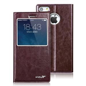 iPhone6 Plus 手帳 ケース レザー (5.5インチ) 窓付き 薄型 カード収納/ウォレット/財布型ケース アイフォン   iphone6p-kw-w40918|keitaiichiba