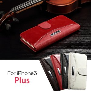 iPhone6 Plus ケース 手帳 カード収納/ウォレット/財布型ケース アイフォン 6 Plus カバー 液晶保護    iphone6p-r27-t40923|keitaiichiba