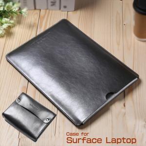 Surface Laptop ケース レザー ポーチ カバン型 ポーチ型 電源ケース付き サーフェス...