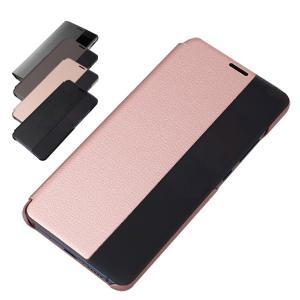 Huawei Mate10 Pro ケース 手帳型 レザー 窓付き シンプル おしゃれ スリム 薄型 シンプル ファーウェイスマートフォン/スマフォ/スマホケース/カバー|keitaiichiba