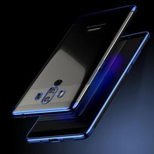 Huawei Mate10 Pro クリア ケース メッキベゼル ソフトバンパー クリア TPU メッキ メタル調 ファーウスマートフォン/スマフォ/スマホバンパー|keitaiichiba