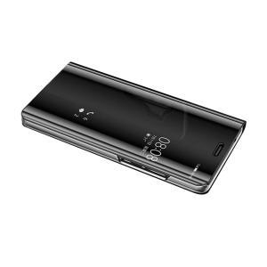 Mate10 Pro クリア ケース 2つ折り 液晶保護 パネル 半透明 耐衝撃 ファーウェイ / HUAWEI メイト10プロスマートフォン/スマフォ/スマホケース/カバー|keitaiichiba