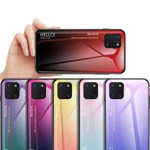 Samsung Galaxy Note10 Lite ケース/カバー TPU バンパー 背面強化ガラス 背面パネル付き かっこいい ストラップホール付き ギャラクシーノート10ライ|keitaiichiba