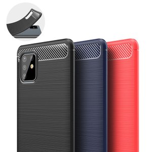 Samsung Galaxy Note10 Lite ケース/カバー TPU 耐衝撃 かっこいい カーボン調 ギャラクシーノート10ライト ソフトケース/カバー おしゃれ おすすめ|keitaiichiba