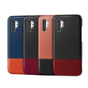 Samsung Galaxy Note10 / Note10+ ケース/カバー レザー かっこいい レザー カバー シンプル おしゃれ ギャラクシーノート10 ノート10+ 背面レザー ハードケ|keitaiichiba