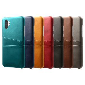 Samsung Galaxy Note10 / Note10+ ケース/カバー レザー かっこいい レザー カバー シンプル おしゃれ ギャラクシーノート10 ノート10+ 背面レザー ハード|keitaiichiba