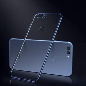 Huawei Nova2 クリアケース TPU 耐衝撃 メッキ メタル調 シンプル かっこいい ノバ2 透明 カバー おすすめ お  スマートフォン/スマフォ/スマホケース/カバー keitaiichiba