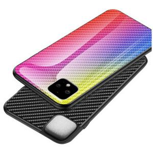 Google Pixel4/4XL カバー 背面強化ガラス 背面カバー グーグル ピクセル4 / ピクセル4XL かっこいい カーボン調 スリムなケース 落下防止 おすすめ おしゃれ ア|keitaiichiba