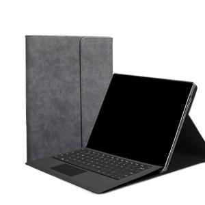 Surface Pro 6の高級感とベーシックなデザインでおしゃれなスタンド変形が出来る手帳型カバー...