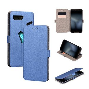 ASUS ROG Phone II ZS660KL ケース/カバー 手帳型 レザー スタンド機能 カ...