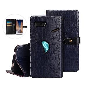 ASUS ROG Phone 2 ZS660KL ケース/カバー 手帳型 レザー スタンド機能 カー...